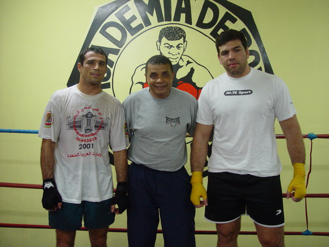 Professor Claudio Coelho with Royler Gracie and Pedro Rizzo