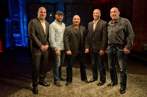 Tito Ortiz, Randy Couture, Host Jay Glazer, Royce Gracie and Mark Coleman.