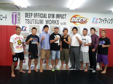 DEEP held a press conference at DEEP IMPACT gym in Tokyo on Friday.