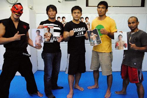 (from left to right) Toshikazu Suzuki, KEI Yamamiya, Sanae Kikuta and Rambaa Somdet. Somdet will take on Takuya Eizumi and this will be his first fight in an unified rules.