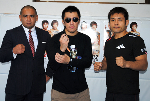 "In regards to fighting without gloves, Sanae Kikuta (right) said, ""Today's MMA gloves are well-evolved so it doesn't mean its easier to lock submissions with bare hands"". Yuji Sakuragi (left) stated, ""Higher possibility of getting cuts yet more difficult to score a KO. Also there is a possibility of breaking my own hands too."""