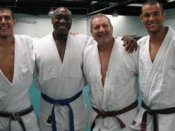 L-R: Rener Gracie, Michal Clarke Duncan, Ed O'Neil and Ryron Gracie - Photo Gracie FB