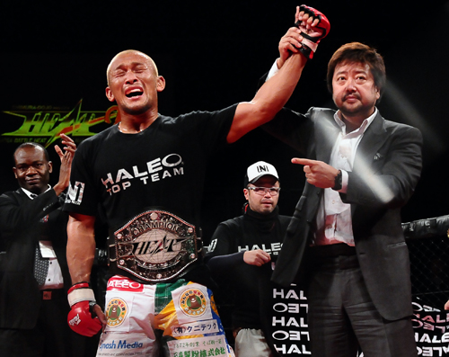 """""""Strasser"""" Kiichi finally captured the very first title in his pro MMA career"""