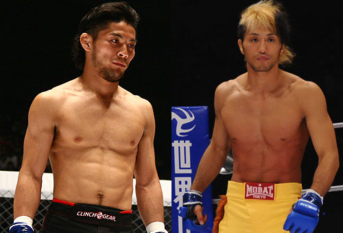 "WEC / DREAM veteran Kenji Osawa (left) will make a comeback against Takeshi ""Lion"" Inoue after sidelined for nearly 18 months due to a fracture on his right leg"