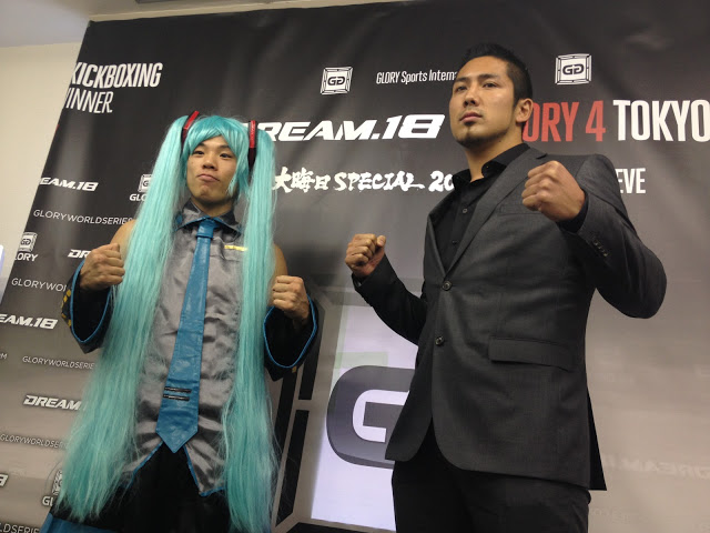 The colorful Yuichiro Nagashima (left) will square off with GLORY 3 Rome 'Final 8' tournament runner-up Robin van Roosmalen in a lightweight (154 pounds/70 kilograms) Superfight at the highly-anticipated GLORY 4 Tokyo - Heavyweight Grand Slam mega-event at Saitama Super Arena on New Year's Eve while Kyokushin Karate star Koichi Pettas (right) will face off with all-time sensation Jerome LeBanner in a heavyweight Superfight on the card