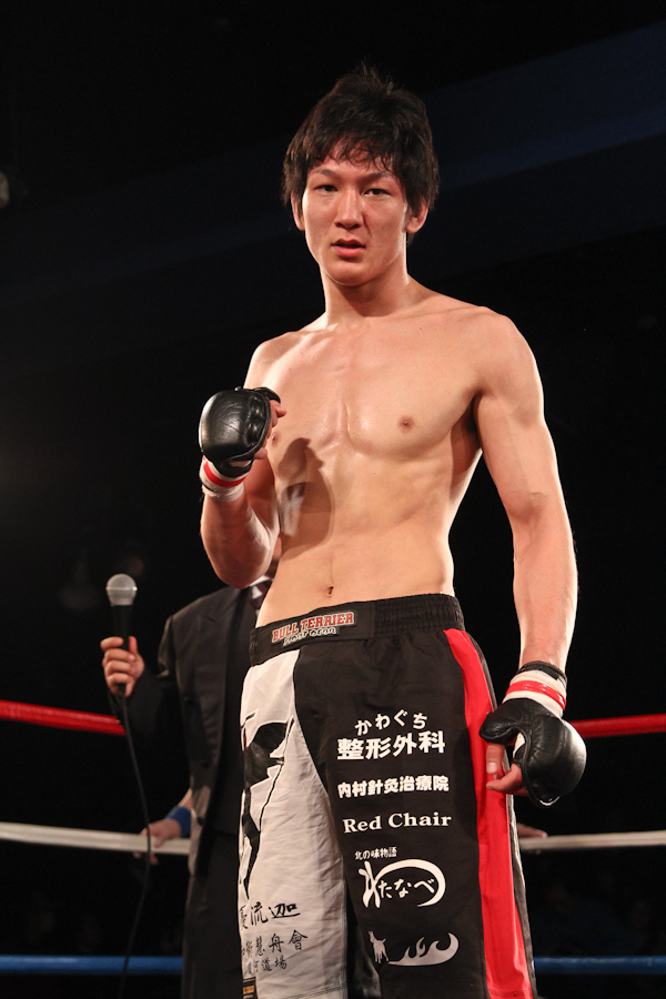 """Yuta """"Uruka"""" Sasaki (10-1-2), at age 23, is going to get a first opportunity to get a pro MMA title next month at Korakuen Hall"""