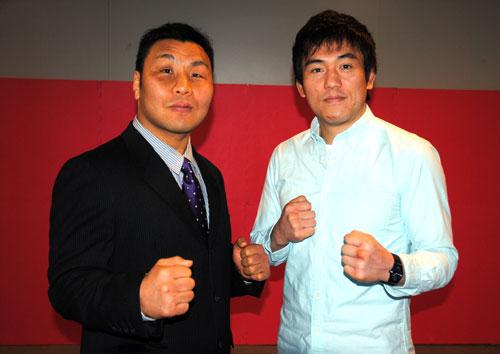 Hiromitsu Kanehara (left) is 42-year old and will take on Yuki Kondo in his last pro MMA fight