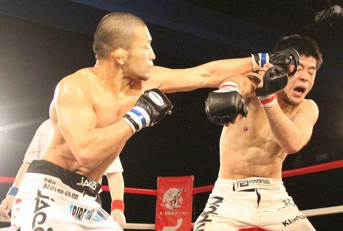 Kiyotaka Shimizu landed more jabs than Fumihiro Kitahara