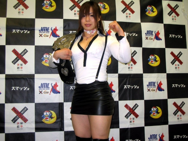Rin Nakai at the press conference held on Wednesday at Pancrase office in Tokyo
