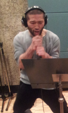 Masakazu Imanari at the recording studio