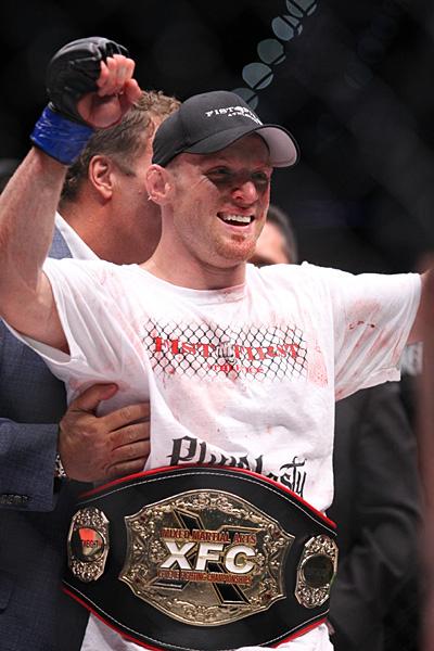 Scott Holtzman with belt