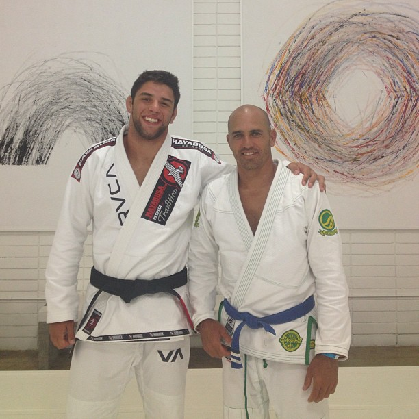 """Buchecha"" qwith the 11 times World Champion Slater"