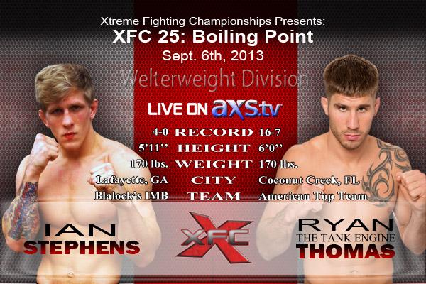 Ian Stephens vs. Ryan Thomas - XFC 25
