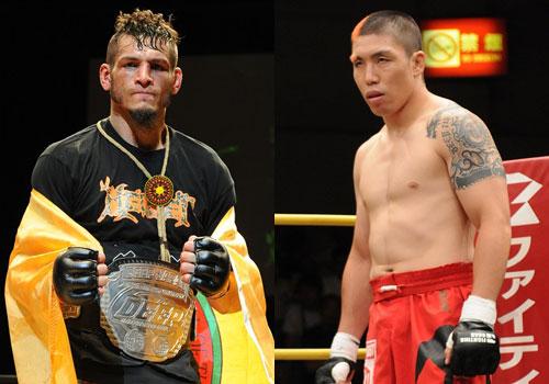 UFC / PRIDE veteran Ryo Chonan (right) is challenging Dan Hornbuckle (left) in his last pro MMA fight.