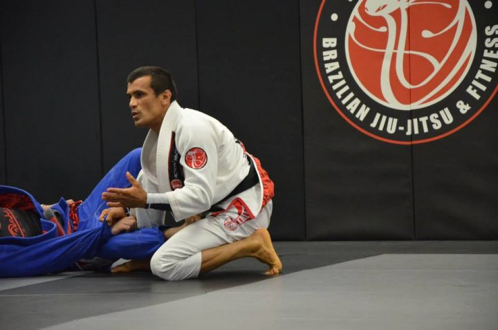 "Rubens ""Cobrinha"" Charles teaching at his academy - Photo Cobrinha's facebook"