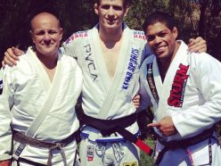 Tom and Keenan Cornelius with Andre Galvao