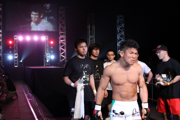 Satoru Kitaoka did not look happy from the beginning. Apparently Kitaoka was disgusted with his opponent, Dom O'Grady, for not making the contract weight.