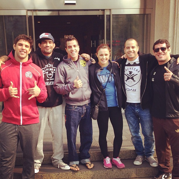 Checkmat Team-L-R: Buchecha, Lucas,, Rico, Michelle, Leo and Joao Assis