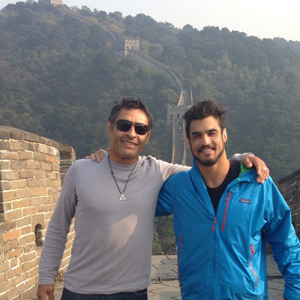 """Rickson and Kron Gracie at the Great Wall: Rickson: """"This weapon is ready to go off!"""""""