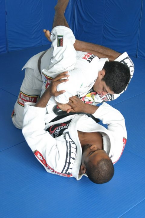 Fernando Terere and then Brown Belt Andre Galvao showing position - Photo Kid Peligro