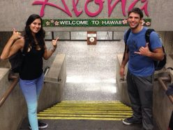 "Marcus ""Buchecha"" and Cesalina Gracie at Honolulu Airport"