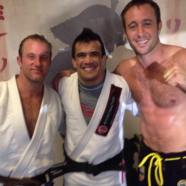 """Scott Caan, Rubens """"Cobrinha"""" and Alex O'Loughlin"""