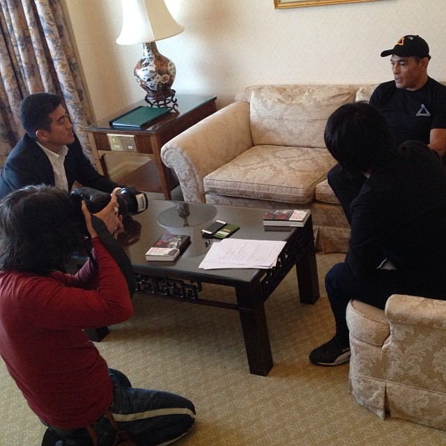 Can't be Rickson in Japan without interviews