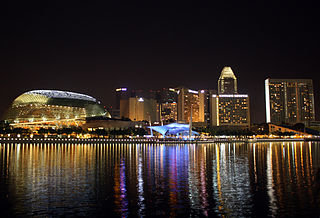 Marina Bay at night in Singapore