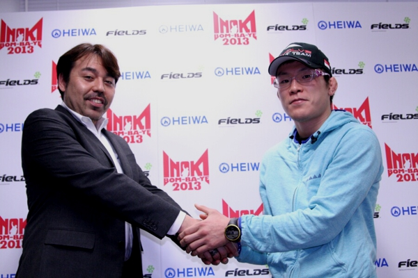 Shinya Aoki (right) and Simon Kelly Inoki (left) at the press conference held in Tokyo last week