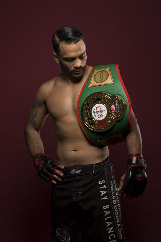 "Rob Font, the reigning CES MMA featherweight champion, will aim for his seventh consecutive win Friday, Dec. 6, 2013, when he faces Canadian Matt DiMarcantonio in the main event of ""CES MMA XX"" at Twin River Casino in Lincoln, R.I. (CES photo by Ian Travis Barnard)"