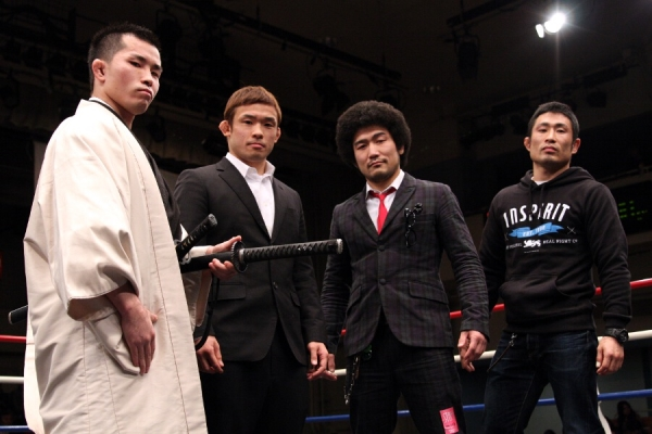 (from left to right) Ryuichi Miki, Hiromasa Ogiukubo, Mamoru and Yoshiro Maeda.