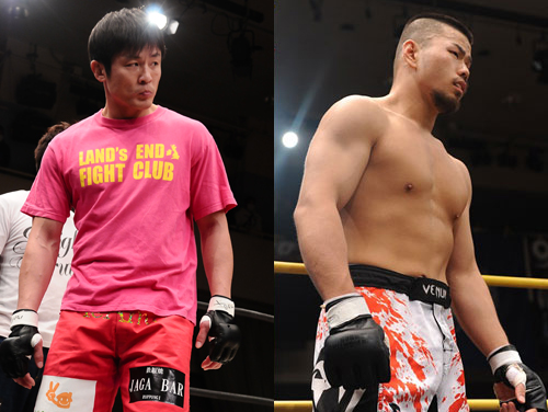Former DEEP title contender RYO (left) and Legend FC veteran Tatsumi Hideo will collide in DEEP Osaka show on February 23, 2014.