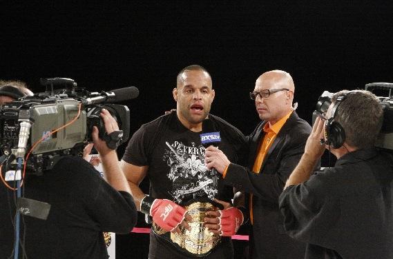 Anthony Hamilton w-belt postfight