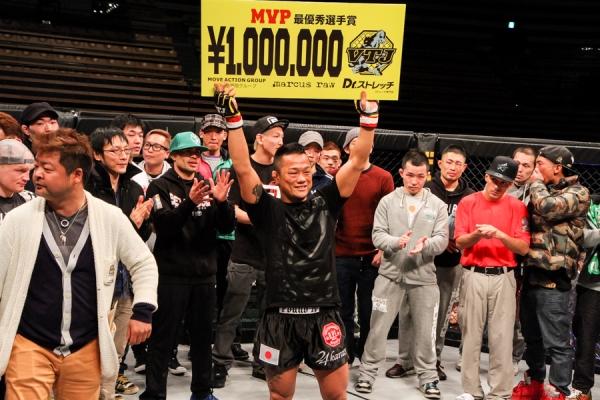 Hiroyuki Takaya won MVP award and 1 million yen (about 10K USD) at VTJ 4th.