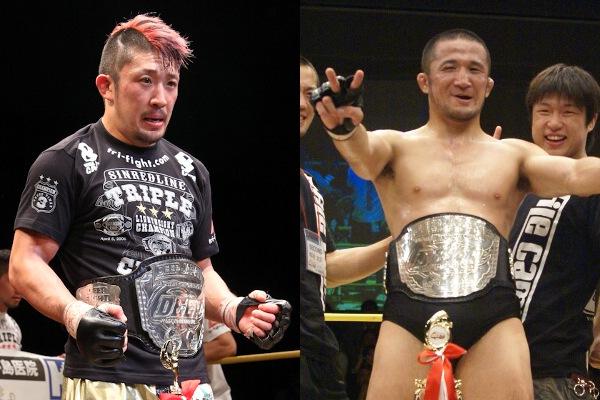 Mizuto Hirota (left) and Daisuke Nakamura (right) both held DEEP lightweight title in the past.
