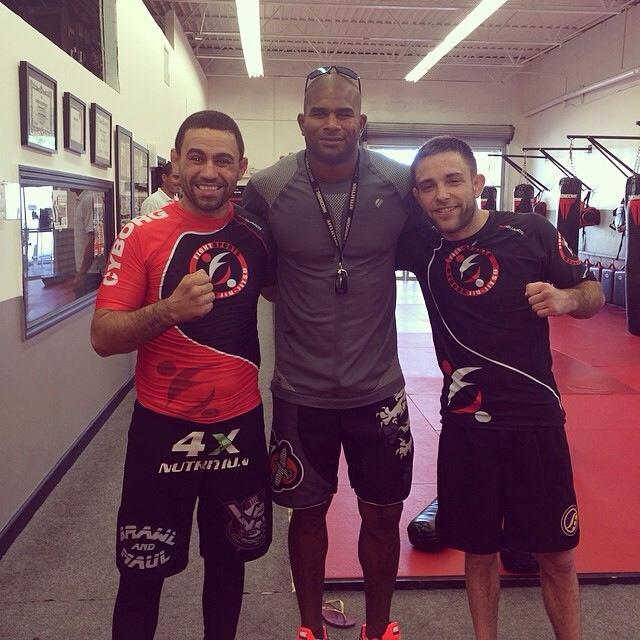 L-R: Vagner Rocha, Alistair Overeem, Ryan Hall at Fight Sports Miami