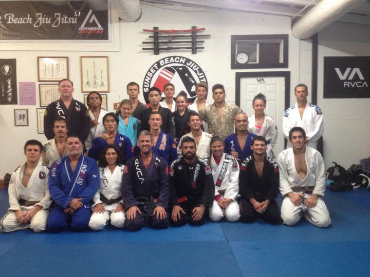 Reis, Elias and the crew at Sunset Beach Jiu-Jitsu