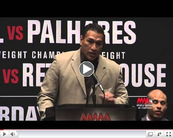 WSOF 9 press conference video Ray Sefo