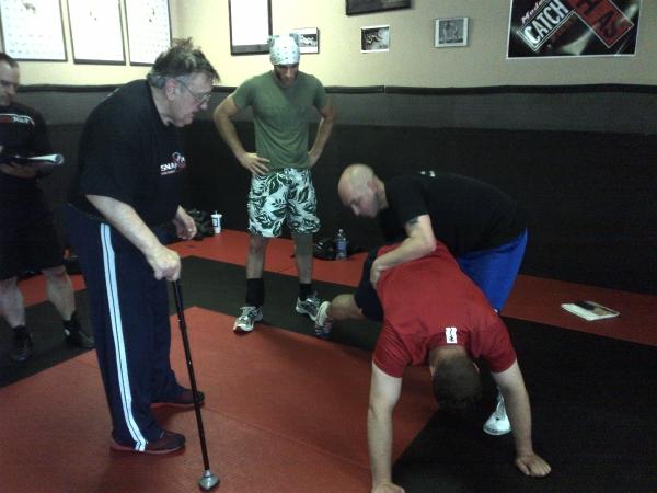 Billy Robinson teaching