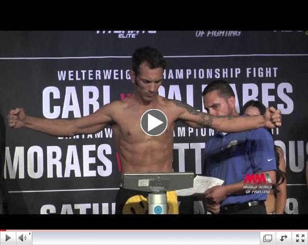 WSOF 9 Weigh-In Video Highlights