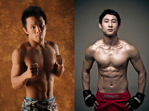 19-year old Takaki Soya (left) and Gyung Jung Ju (right) from Korea