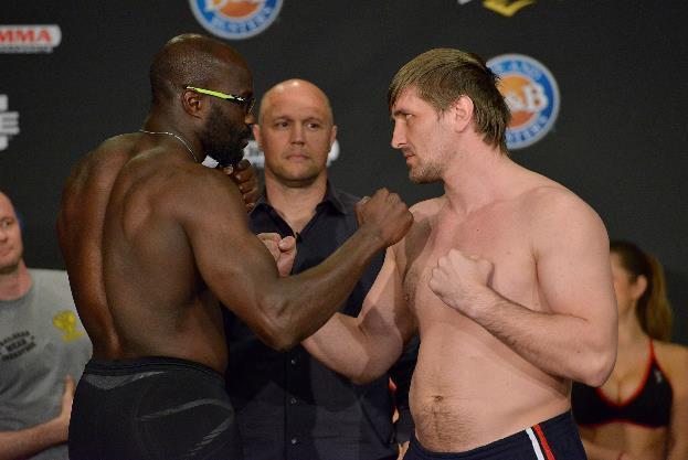 Kongo vs. Minakov - weighin