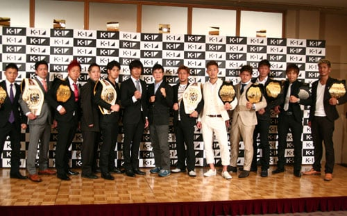 The press conference of K-1WORLD LEAUGE was held in Tokyo on Thursday