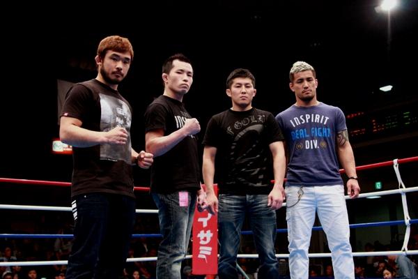 (from left to right) Hiromasa Ogikuco, Ryuichi Miki, Kenji Yamamoto, and Shiji Sasaki