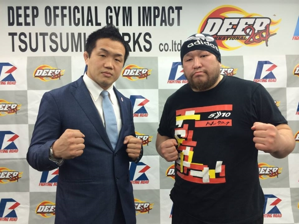 Kazuhiro Nakamura (left) and Seigo Mizuguchi at the press conference held in Tokyo last week