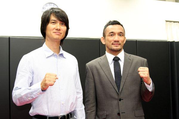 Shuichirou Katsumura with his partner Yuichi Aihara, the head of Oasis, Inc.