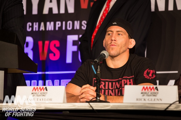 Jesse Taylor at Thursdays WSOF 10 pre-fight press conference (Lucas Noonan/WSOF)