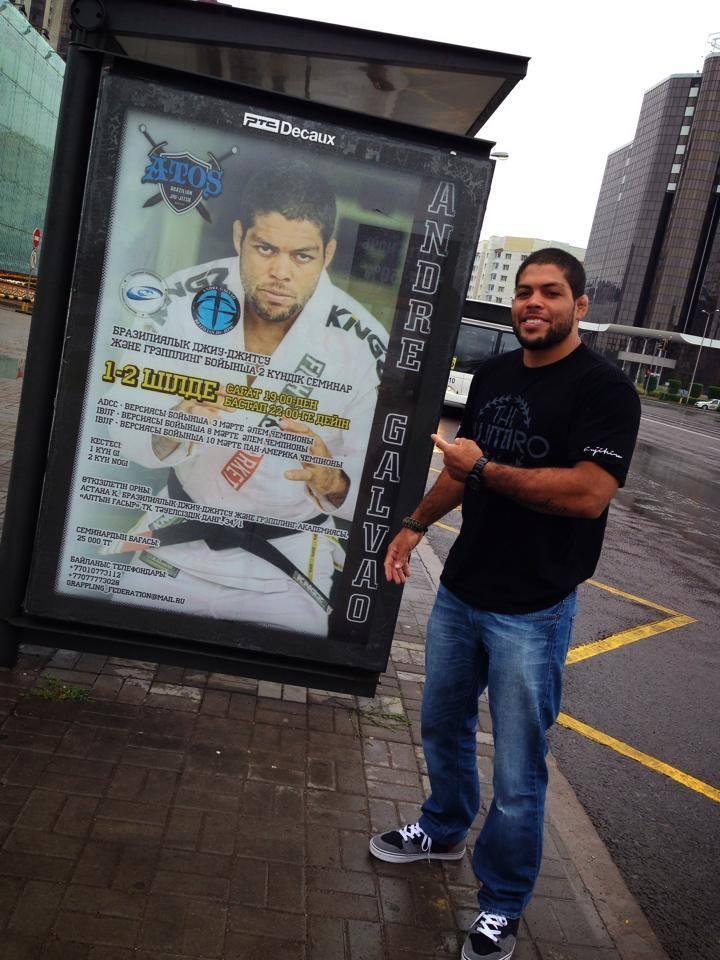 Andre Galvao's poster in Kazakhstan
