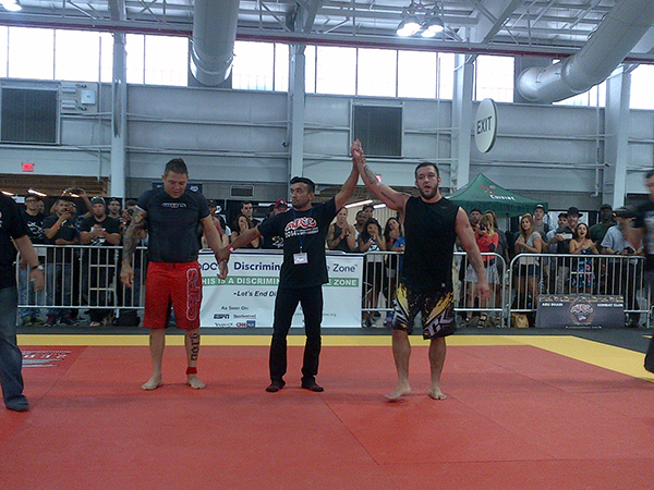 Tom DeBlass (on right) wins against Babalu