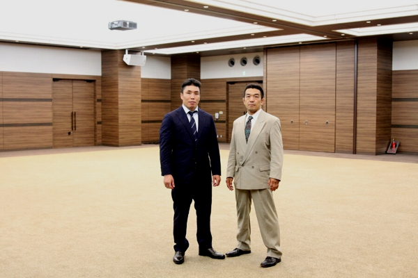 Ryo Chonan (left) and Yuki Nakai (right) at Coconeri Hall in Tokyo